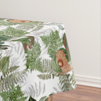 Rain Forest Ferns Leaves Flowers Tablecloth