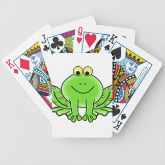 Rain forest Green Frog Bicycle Playing Cards