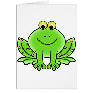 Rain forest Green Frog Card