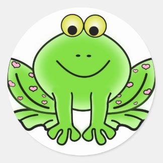 Rain forest Green Frog Classic Round Sticker