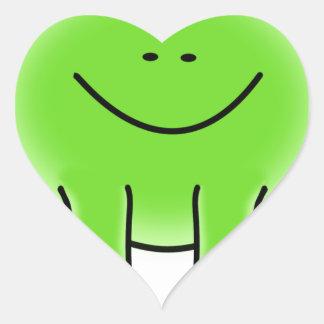 Rain forest Green Frog Heart Sticker