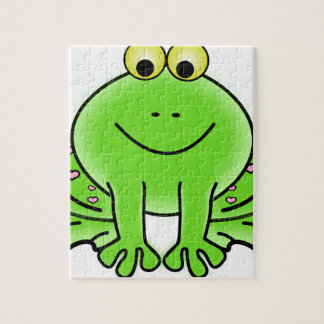 Rain forest Green Frog Jigsaw Puzzle