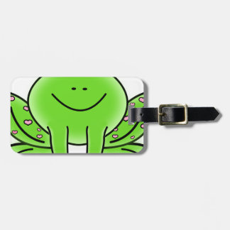 Rain forest Green Frog Luggage Tag