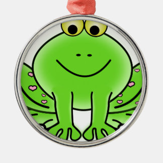 Rain forest Green Frog Metal Ornament