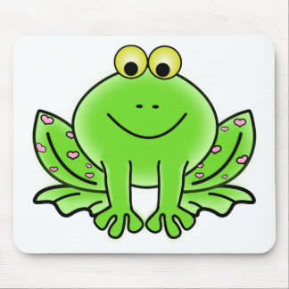 Rain forest Green Frog Mouse Pad