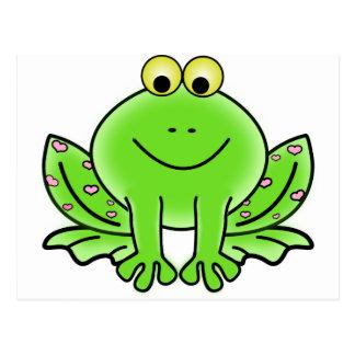 Rain forest Green Frog Postcard