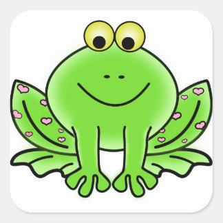 Rain forest Green Frog Square Sticker