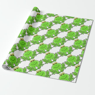 Rain forest Green Frog Wrapping Paper