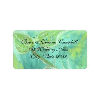 Rain Forest Haze Champagne Wedding Address Label