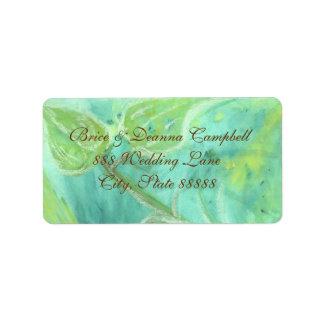Rain Forest Haze Gold Wedding Address Label