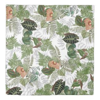 Rain Forest Leaves and Ferns Duvet Cover