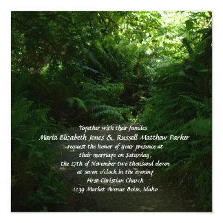 Rain Forest Wedding Card