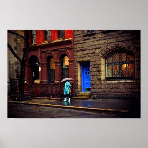 Rain - Greenwich Village - New York City Print
