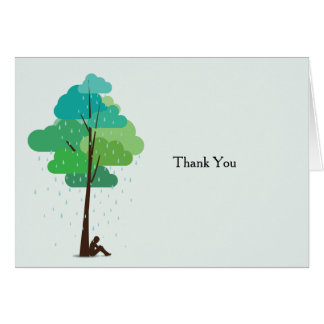 Rain in my Heart Folded Bereavement Thank You Card