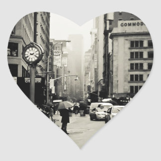 Rain in New York City - Vintage Style Sticker
