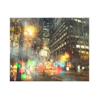 Rain in the City Canvas Print