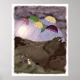 Rain Kites Poster