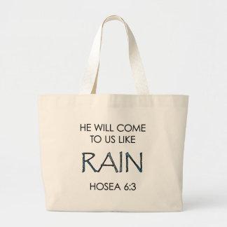 Rain Large Tote Bag