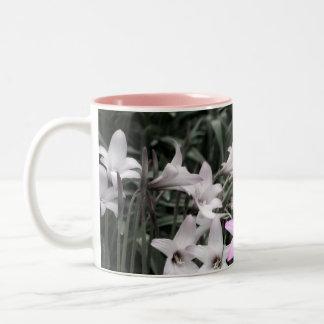 rain lilies Two-Tone coffee mug