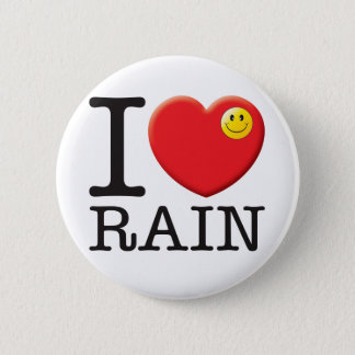 Rain Love 2 Inch Round Button