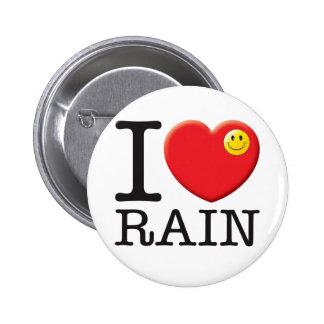Rain Love 2 Inch Round Button