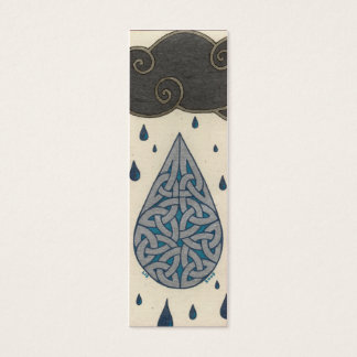 Rain mini-bookmark mini business card