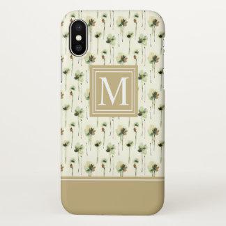 Rain of White Flowers Monogram | iPhone X Case