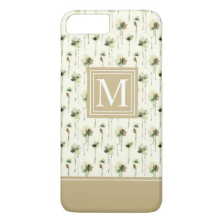 Rain of White Flowers Monogram | Phone Case