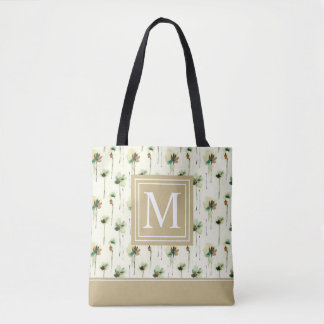 Rain of White Flowers Monogram | Tote Bag