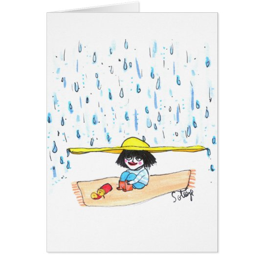 Rain Oh Rain - Childhood Card