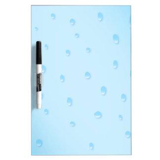 Rain On Glass Dry Erase Board