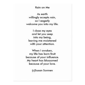 Rain on Me by Susan Sonnen Postcard