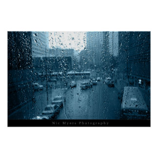 Rain on Window Poster