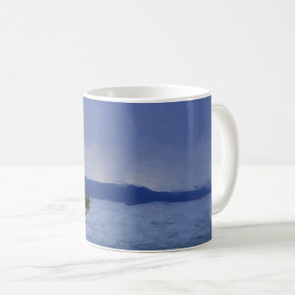 Rain Over Yellowstone Lake Coffee Mug