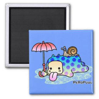 Rain PeRoPuuu Square Magnet