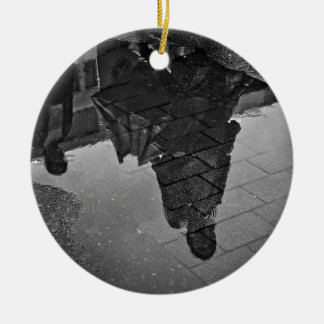 Rain Puddle Ceramic Ornament