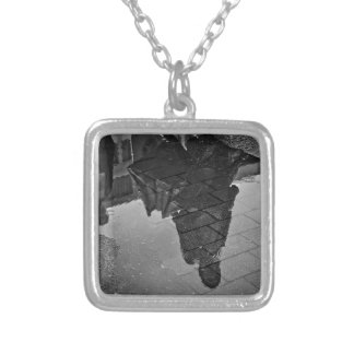 Rain Puddle Silver Plated Necklace