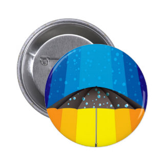 Rain storm on a sunny day 2 inch round button