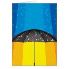 Rain storm on a sunny day card