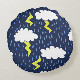 Rain storms thunder clouds round pillow