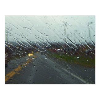 Rain-streaked Windshield Postcard