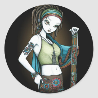 """Rain"" Tribal Dreadlock Rain Maker Fae Stickers"