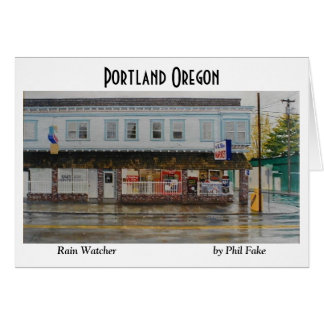 Rain Watcher note card