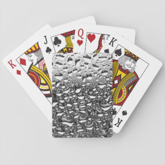 Rain Water Drops on Window Playing Cards