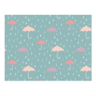 Rain weather postcard