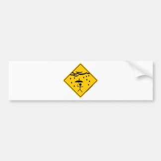 Rain Weather Warning Merchandise and Clothing Bumper Sticker