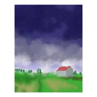 Rain with Barn Art Letterhead