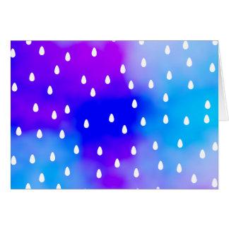 Rain with blue and purple cloudy sky. card