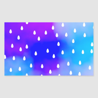 Rain with blue and purple cloudy sky. sticker