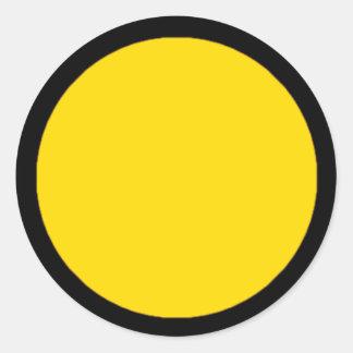 RAINBO Game Piece Sticker - Large Yellow on Black